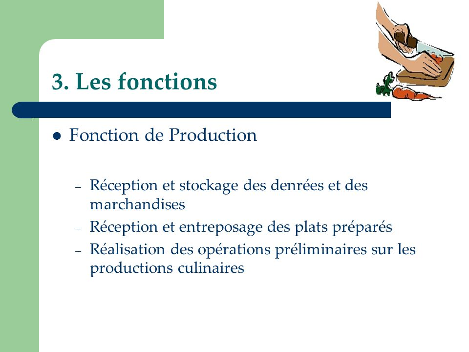 3. Les fonctions Fonction de Production