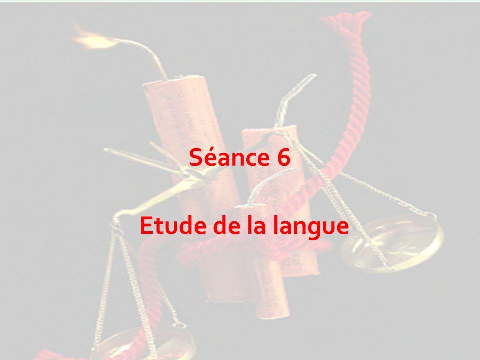 Séance 6 Etude de la langue