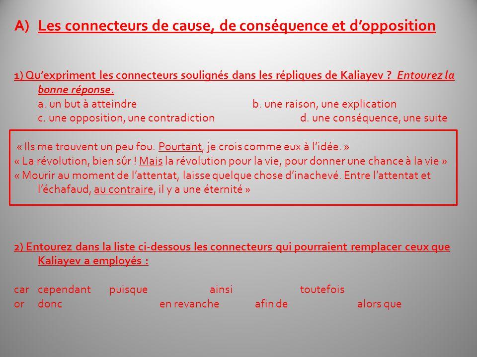 Les connecteurs de cause, de conséquence et d'opposition