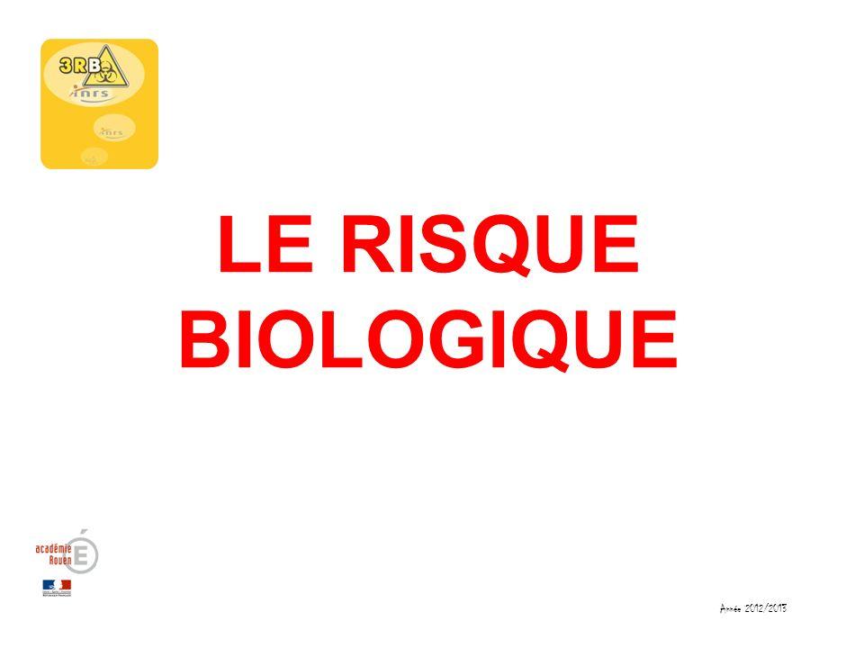 LE RISQUE BIOLOGIQUE Année 2012/2013