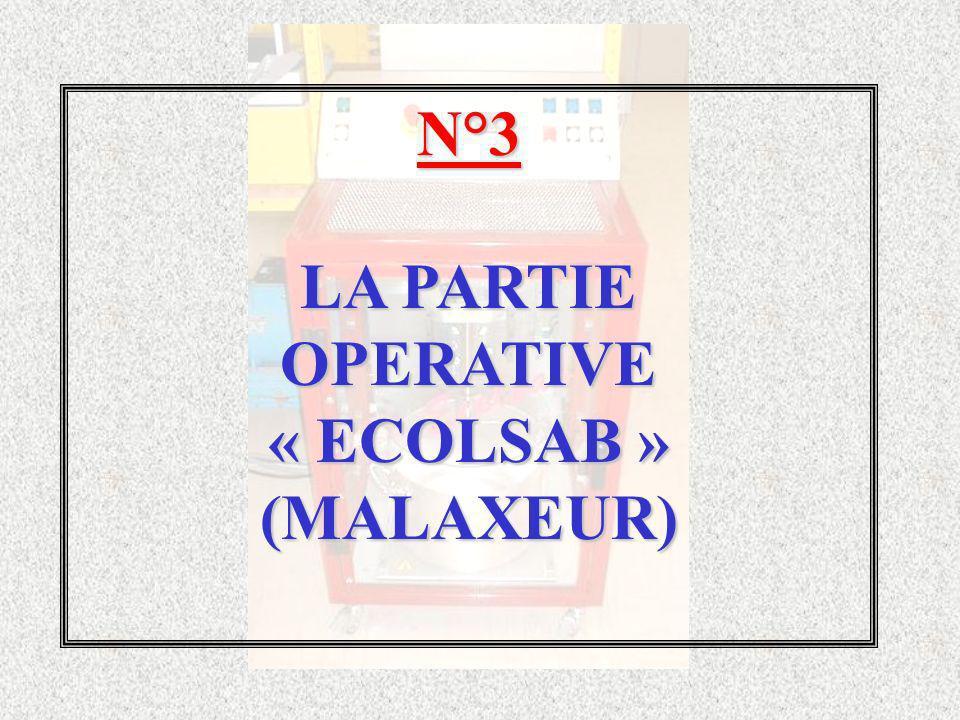 N°3 LA PARTIE OPERATIVE « ECOLSAB » (MALAXEUR)