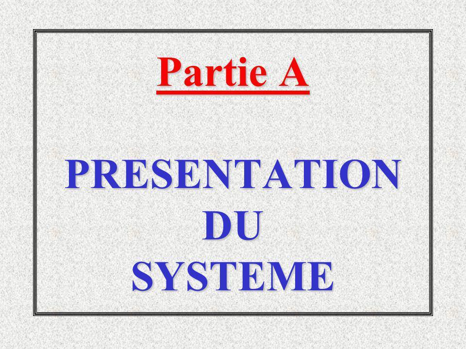 Partie A PRESENTATION DU SYSTEME