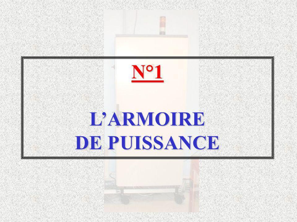 N°1 L'ARMOIRE DE PUISSANCE