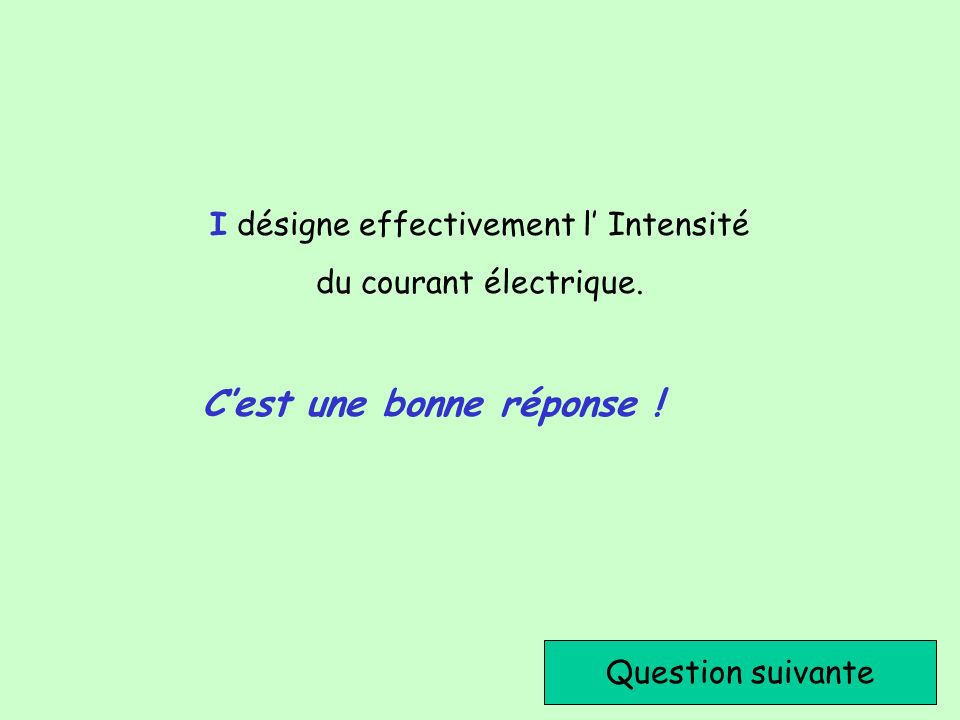 I désigne effectivement l' Intensité