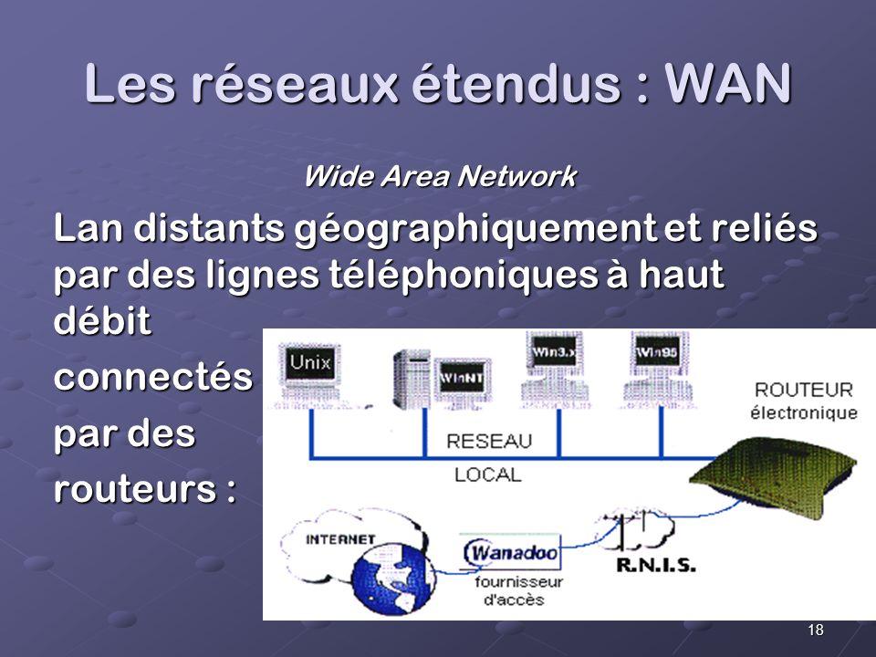 Les réseaux étendus : WAN