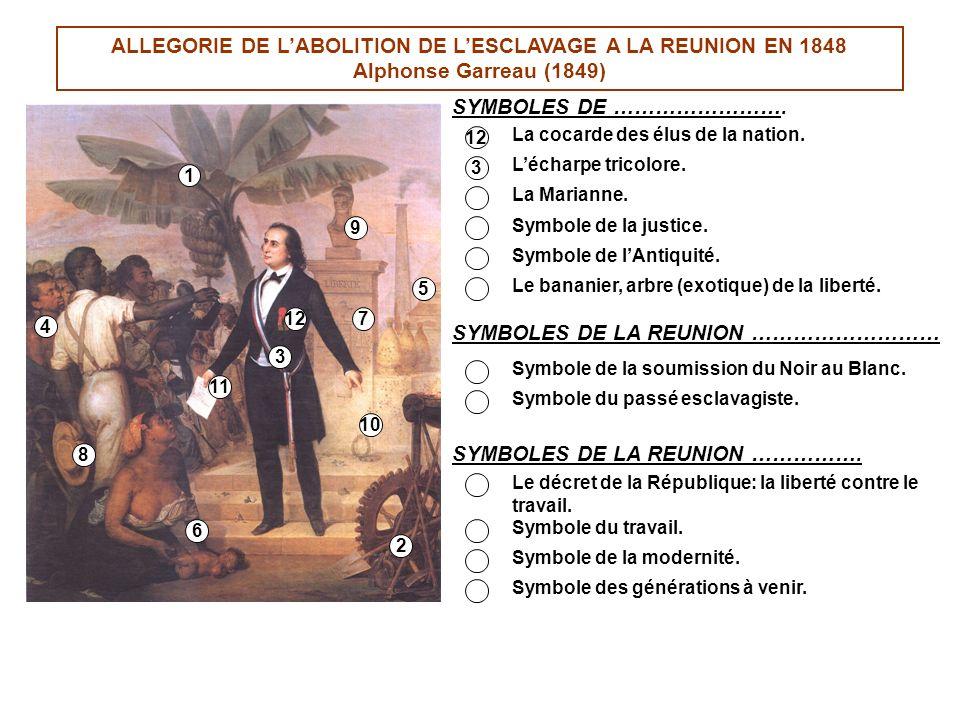 ALLEGORIE DE L'ABOLITION DE L'ESCLAVAGE A LA REUNION EN 1848