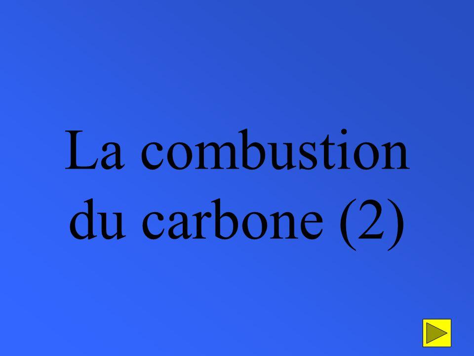 La combustion du carbone (2)