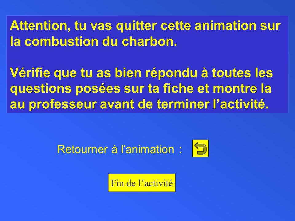 Retourner à l'animation :
