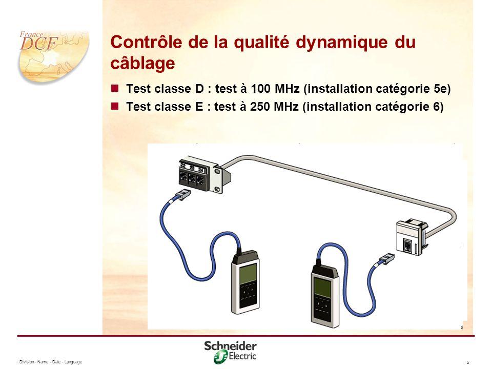 Contrôle de la qualité dynamique du câblage