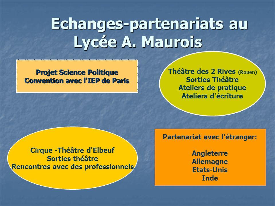 Echanges-partenariats au Lycée A. Maurois