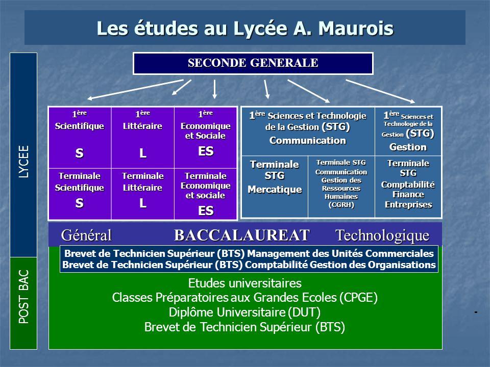 Les études au Lycée A. Maurois