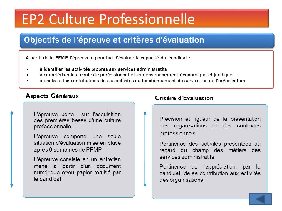 EP2 Culture Professionnelle