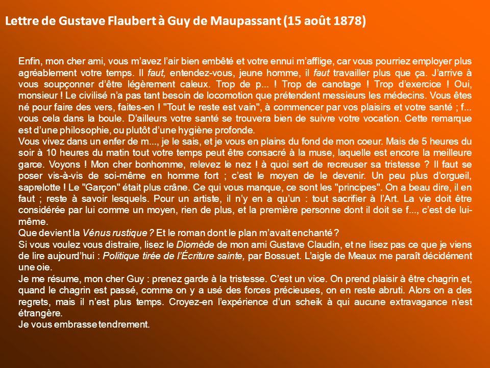 Lettre de Gustave Flaubert à Guy de Maupassant (15 août 1878)