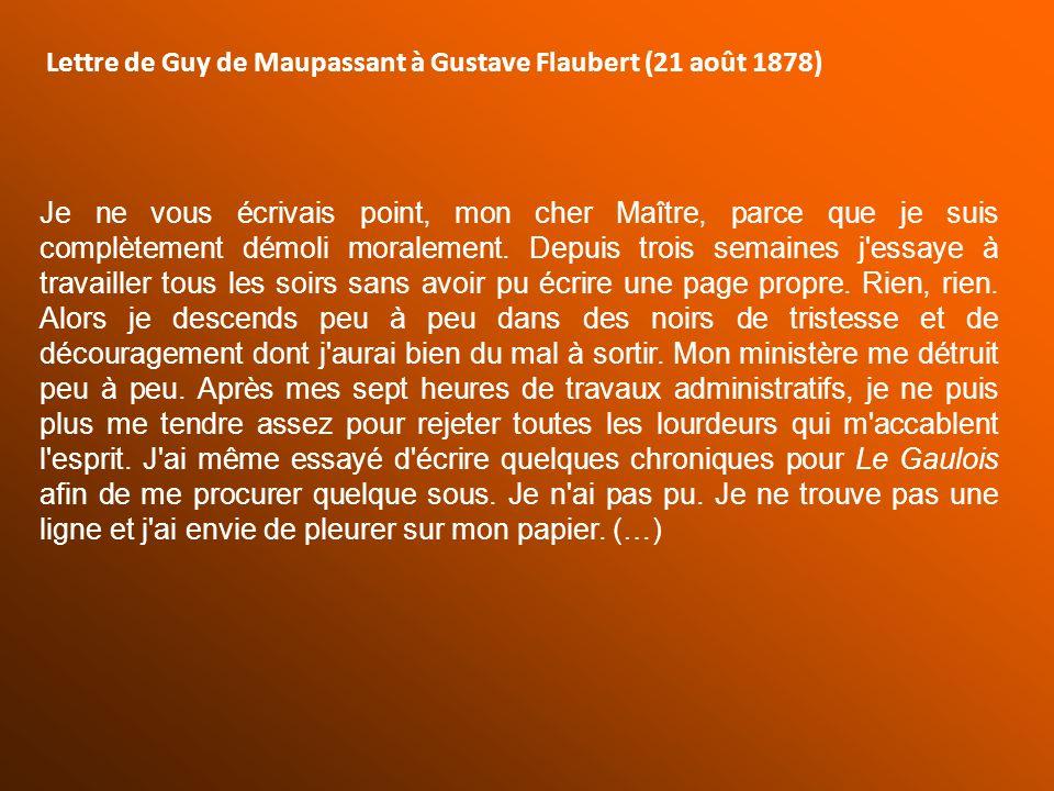 Lettre de Guy de Maupassant à Gustave Flaubert (21 août 1878)