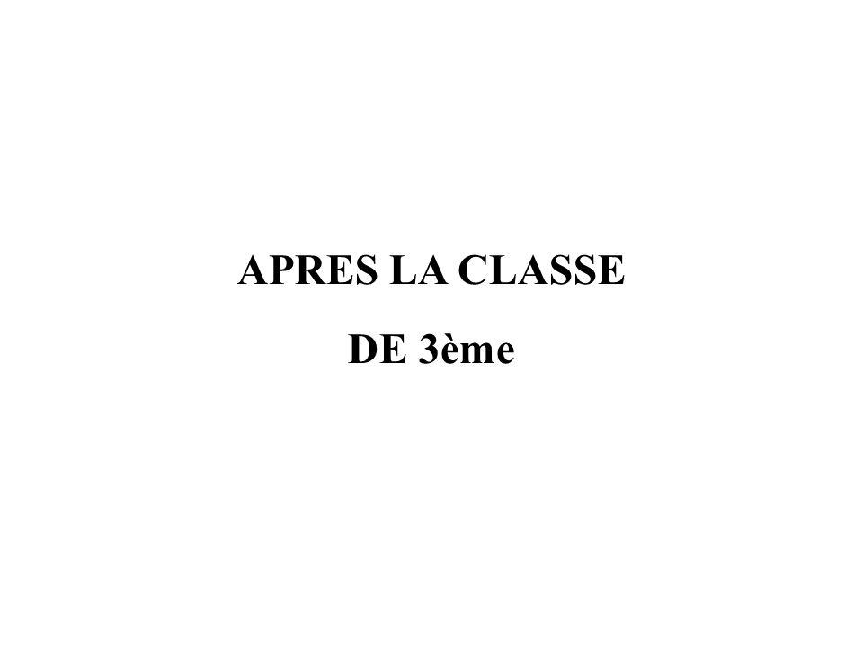 APRES LA CLASSE DE 3ème CIO Montpellier centre 1