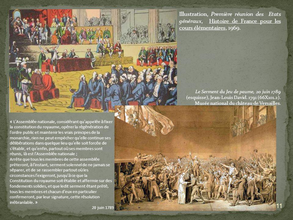 Illustration, Première réunion des Etats généraux, Histoire de France pour les cours élémentaires, 1969.
