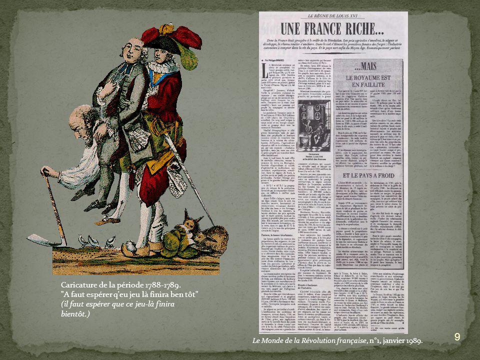 Caricature de la période 1788-1789.