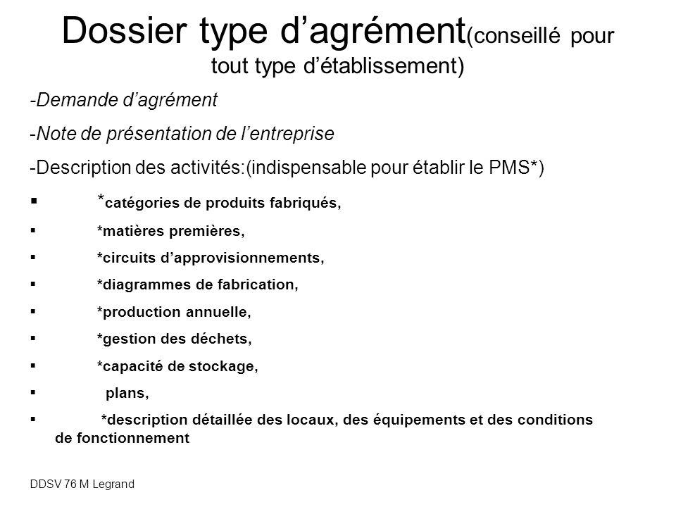 Dossier type d'agrément(conseillé pour tout type d'établissement)