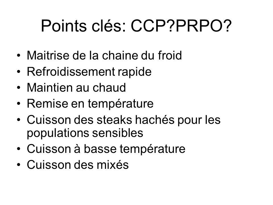 Points clés: CCP PRPO Maitrise de la chaine du froid