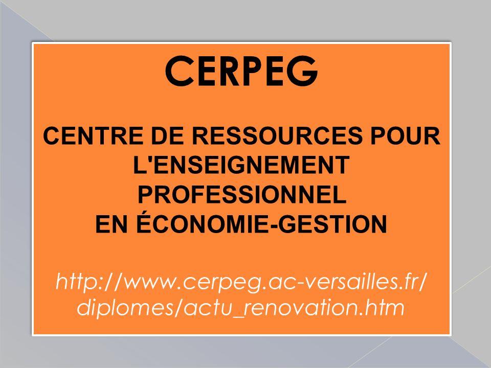 CENTRE DE RESSOURCES POUR L ENSEIGNEMENT PROFESSIONNEL