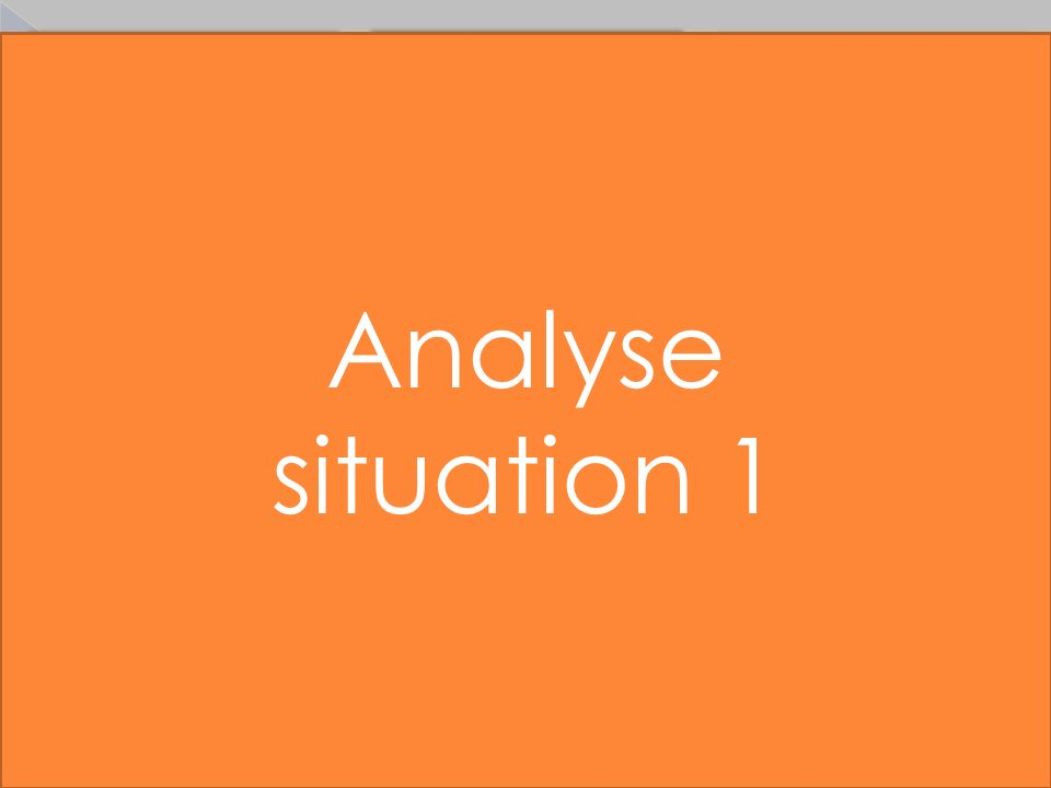 Analyse situation 1 4 situations proposées…