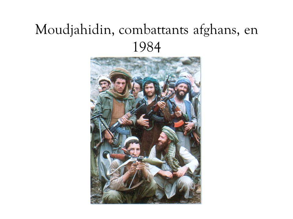 Moudjahidin, combattants afghans, en 1984