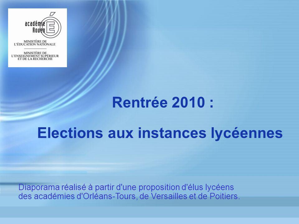 Elections aux instances lycéennes
