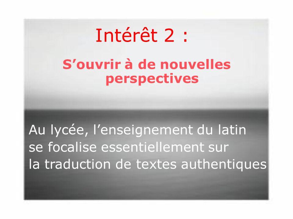 Intérêt 2 :