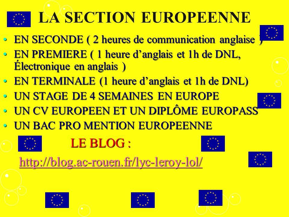 LA SECTION EUROPEENNE LE BLOG : http://blog.ac-rouen.fr/lyc-leroy-lol/