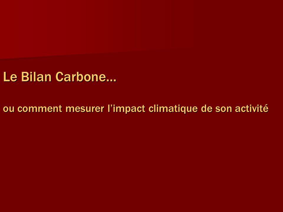 Le Bilan Carbone… ou comment mesurer l'impact climatique de son activité