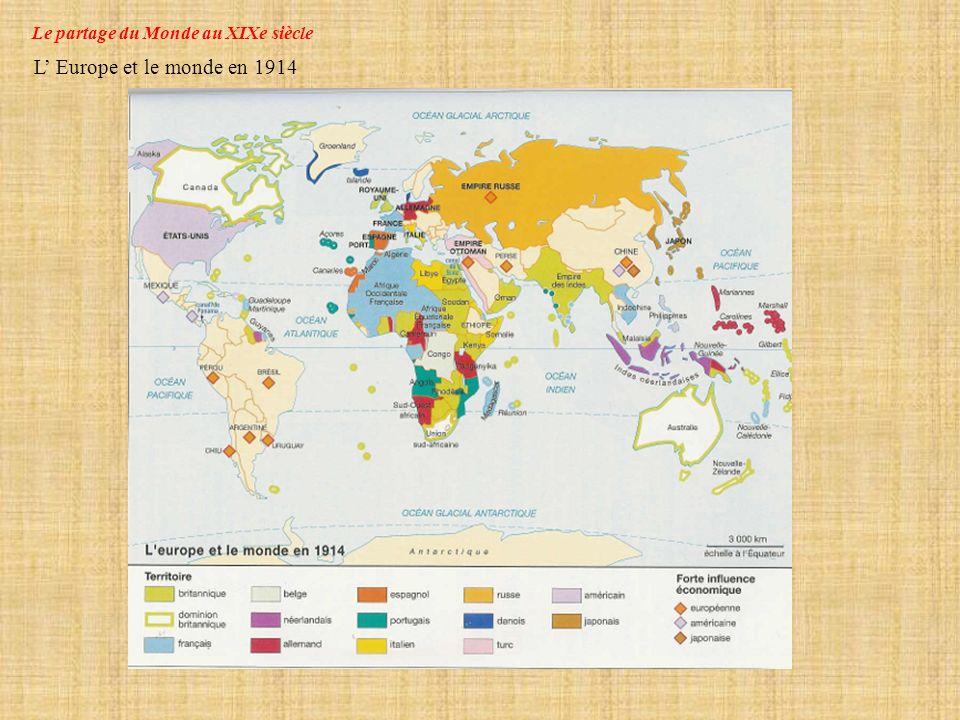 Le partage du Monde au XIXe siècle
