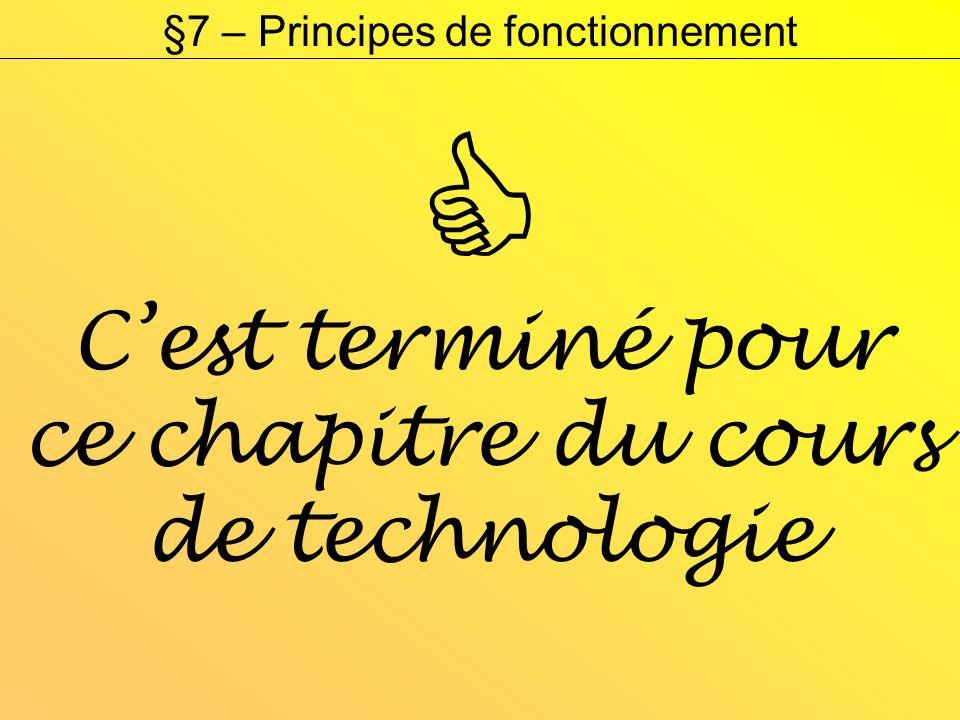 §7 – Principes de fonctionnement