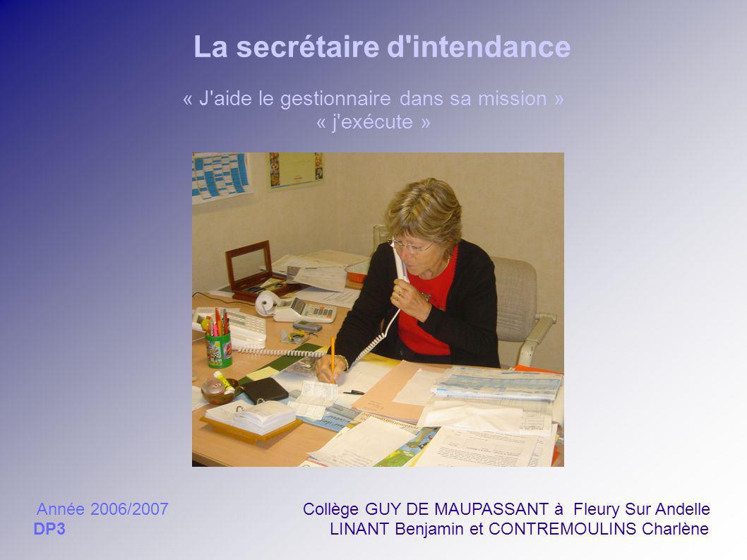 La secrétaire d intendance