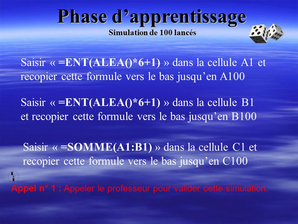 Phase d'apprentissage