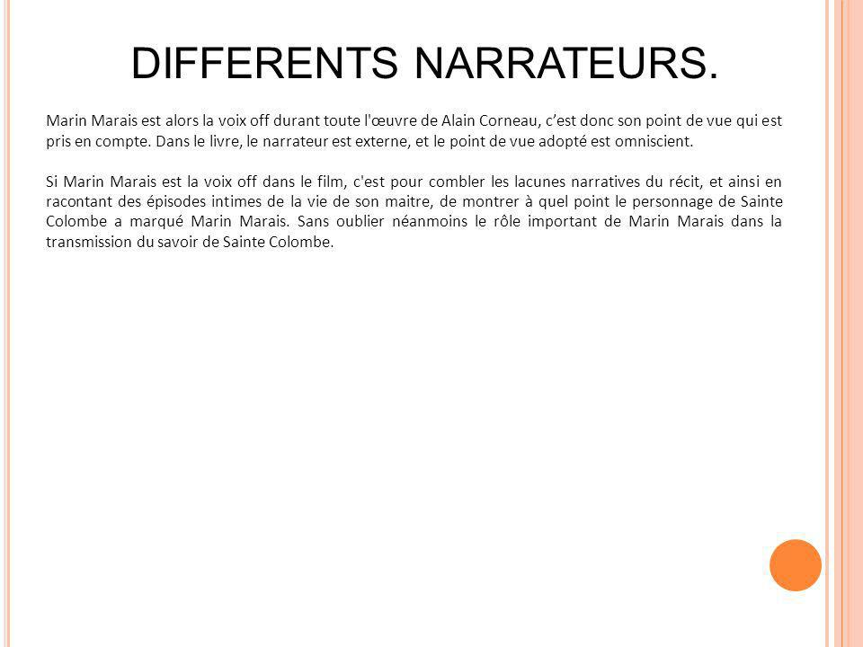 DIFFERENTS NARRATEURS.