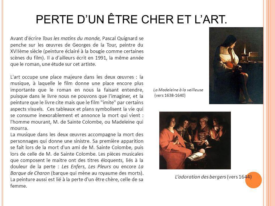 PERTE D'UN ÊTRE CHER ET L'ART.