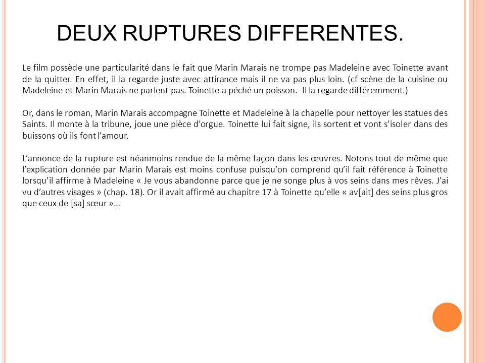 DEUX RUPTURES DIFFERENTES.