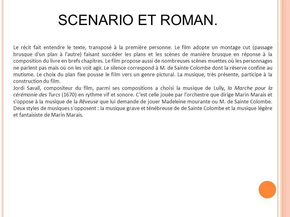 SCENARIO ET ROMAN.