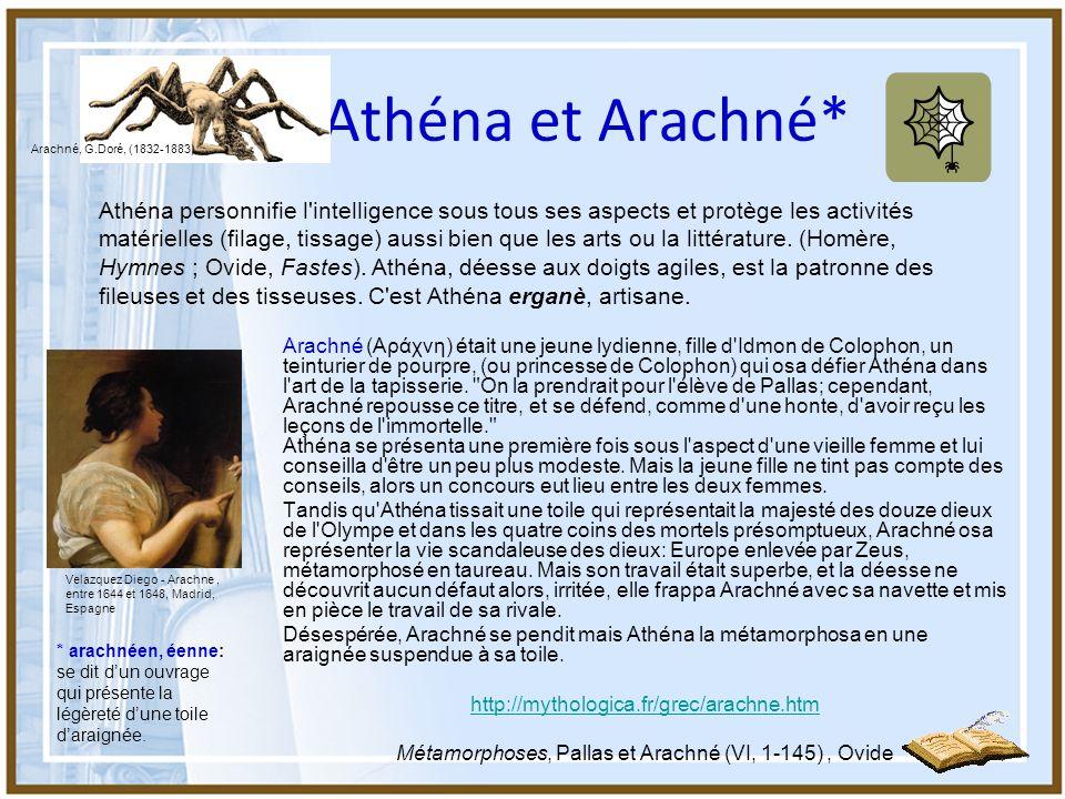 Métamorphoses, Pallas et Arachné (VI, 1-145) , Ovide