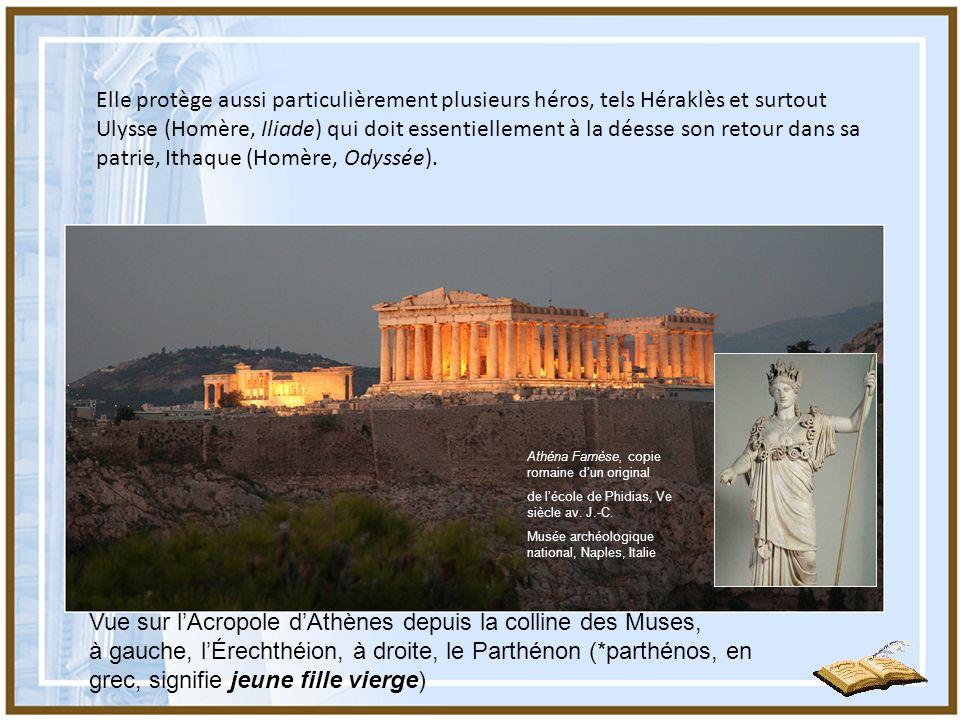 Vue sur l'Acropole d'Athènes depuis la colline des Muses,