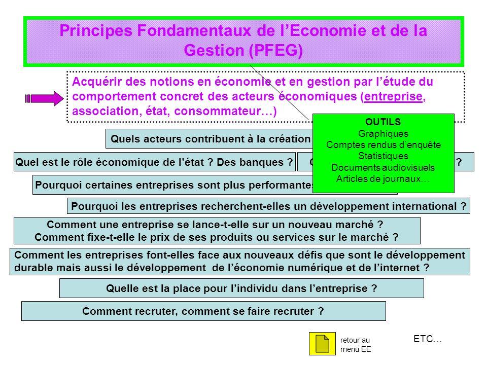 Principes Fondamentaux de l'Economie et de la Gestion (PFEG)