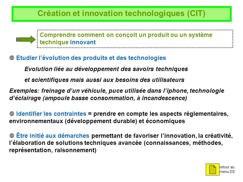 Création et innovation technologiques (CIT)