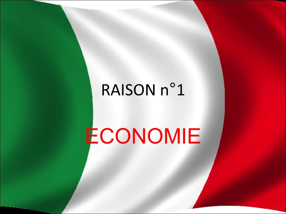 RAISON n°1 ECONOMIE
