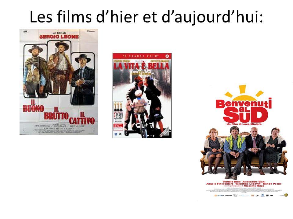 Les films d'hier et d'aujourd'hui: