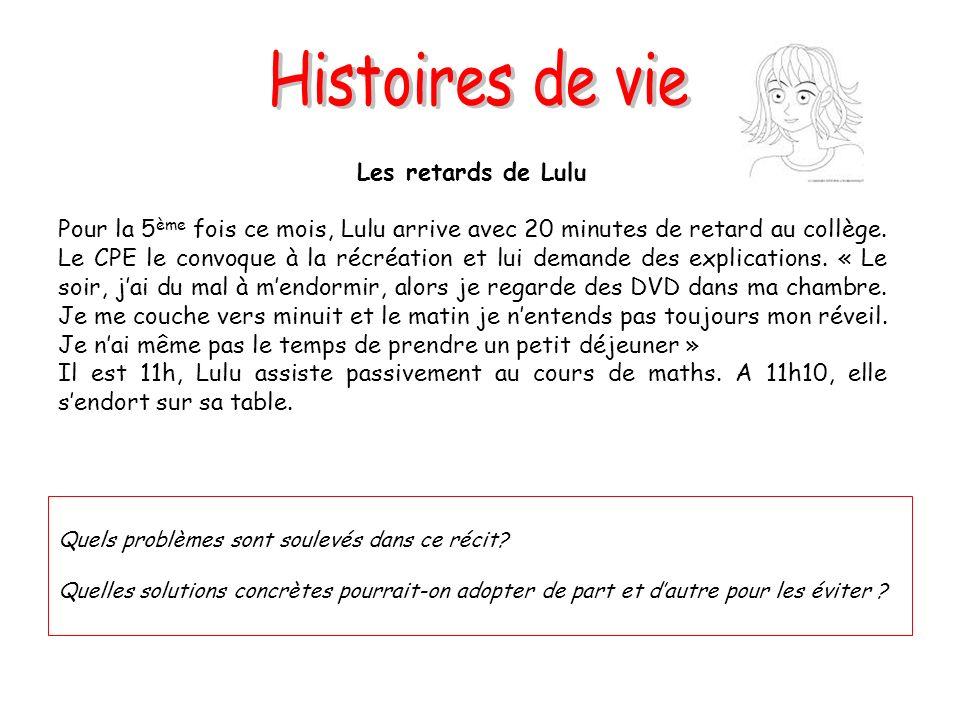 Histoires de vie Les retards de Lulu