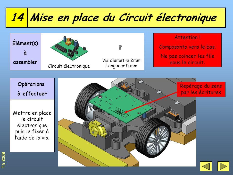Mise en place du Circuit électronique