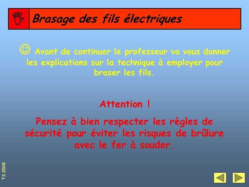 Brasage des fils électriques