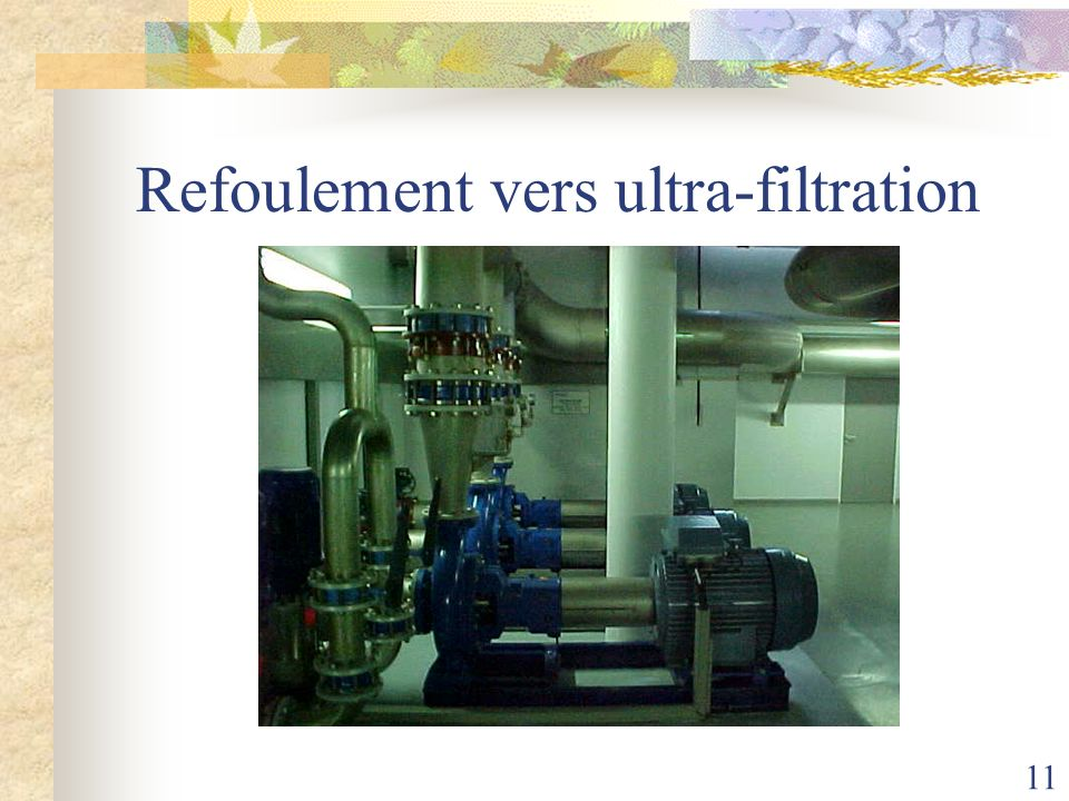 Refoulement vers ultra-filtration