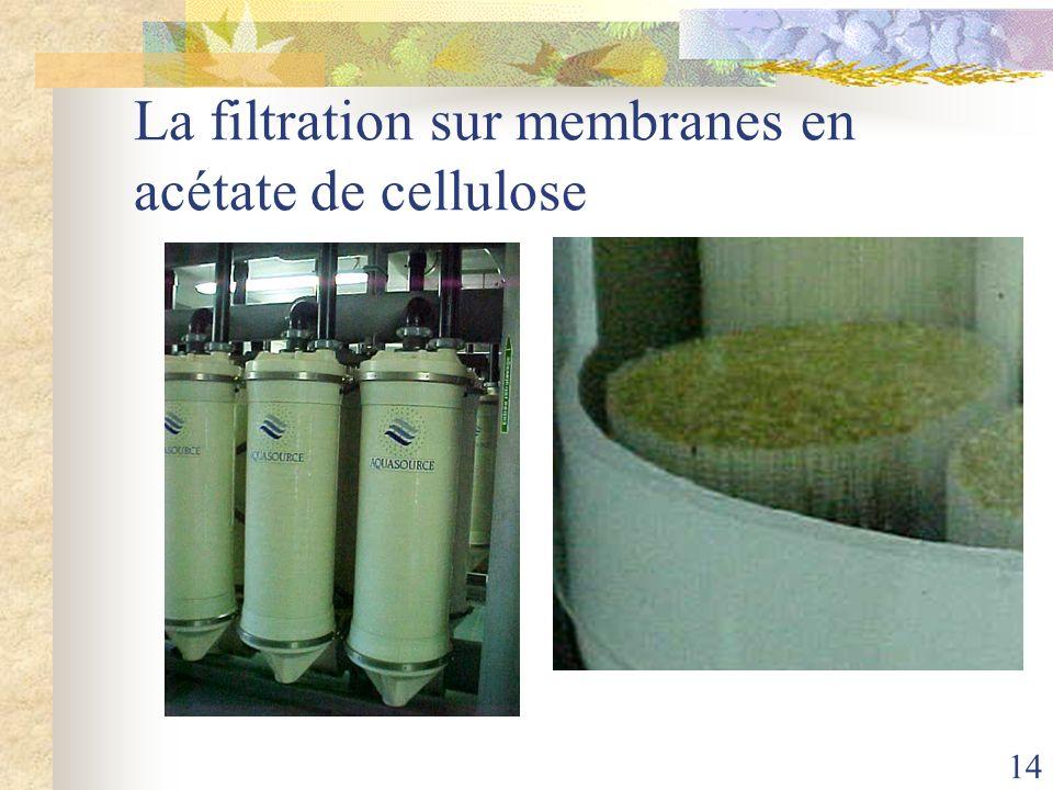 La filtration sur membranes en acétate de cellulose