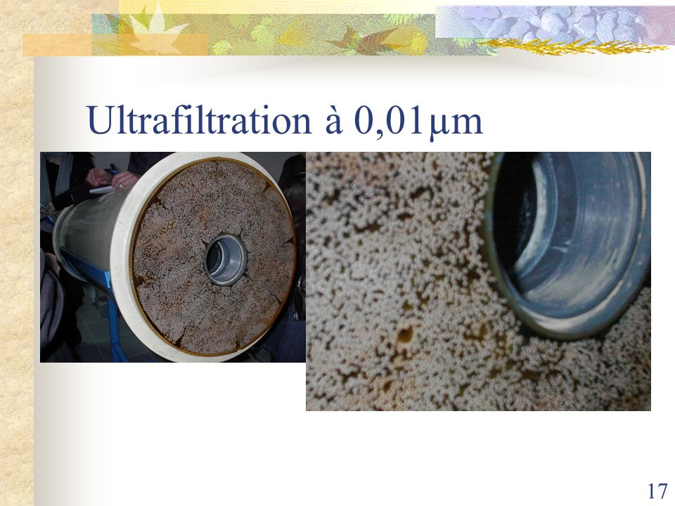 Ultrafiltration à 0,01µm